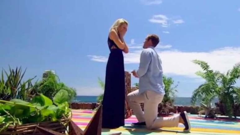 Jordan Kimball proposing to Jenna Cooper on Bachelor In Paradise
