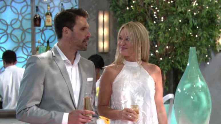 Joshua Morrow and Sharon Case as Nick and Sharon on The Young and the Restless