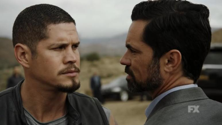Still Image: Mayans M.C. Season 1 Ep. 5 Uch/Opossum Preview. EZ Reyes appears to meet with Miguel Galindo without the club. Pic Credit: FX