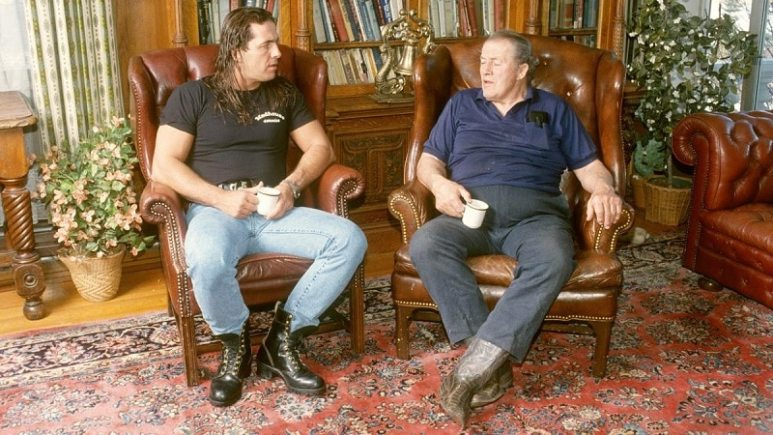 Bret Hart and Stu Hart.