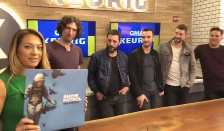 Ginger Zee with Snow Patrol on Good Morning America