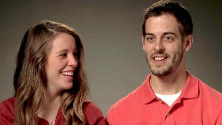 Jill Duggar and Derick Dillard in a confessional for Counting On