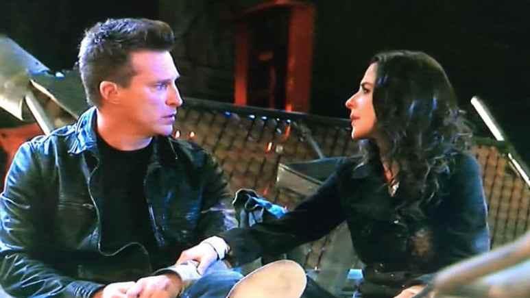 Steve Burton and Kelly Monaco as Jason and Sam on General Hospital