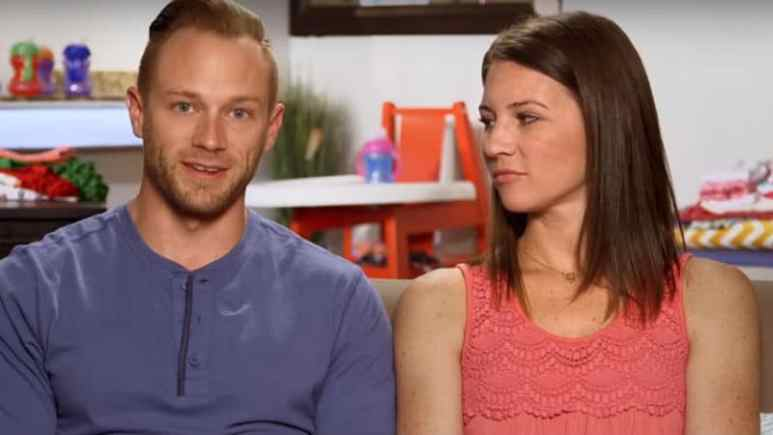 Adam and Danielle Busby in a confessional on OutDaughtered