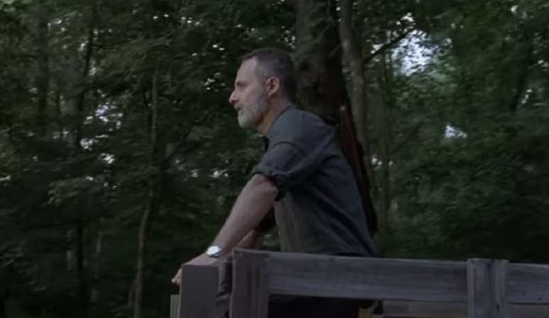 Rick Grimes during October 14 episode of The Walking Dead