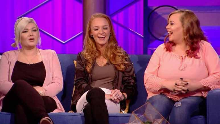 Amber Portwood, Maci Bookout, and Catelynn Lowell at the Teen Mom OG reunion
