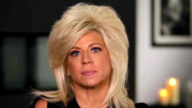 Theresa Caputo in a Long Island Medium confessional