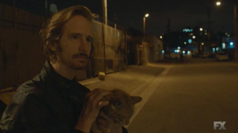 Still image from Mayans M.C. Gato/Mis. Assistant US Attorney Lincoln Potter from season 4 of Sons of Anarchy is revealed to be Kevin's higher up in charge of EZ's informant deal. Pic credit: FX