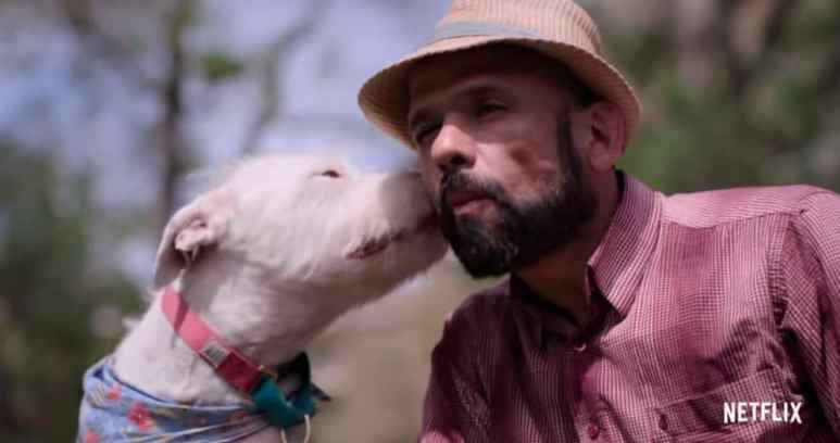 Dogs aims to show how dogs and humans are related to each other emotionally and spiritually. Pic credit: Netflix