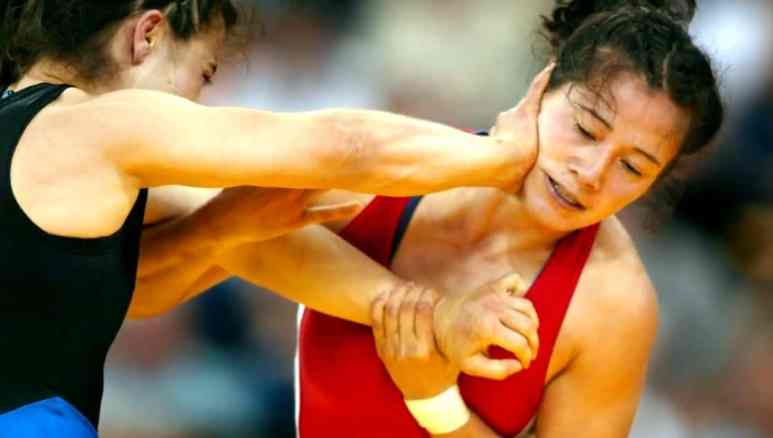 A still from footage of her Olympian days. Pic credit: Discovery