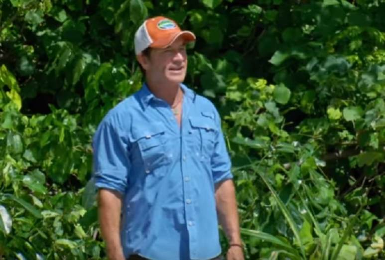 Host Jeff Probst during a new episode of Survivor Season 37