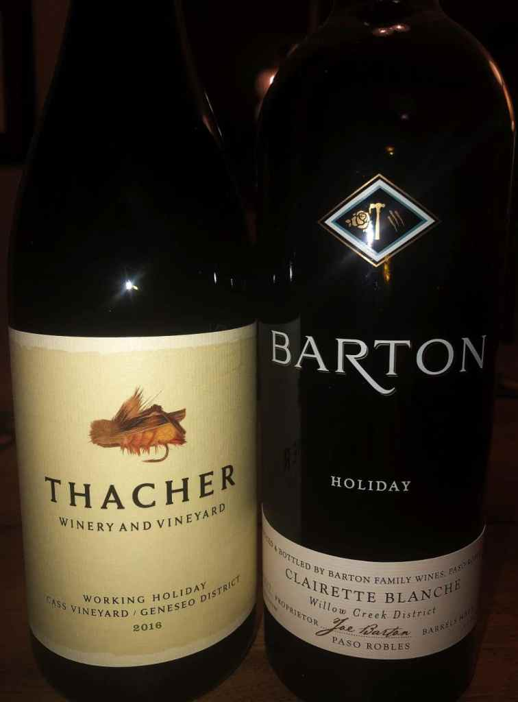 Thacher and Barton representing for the holidays from California. Pic credit: M&C