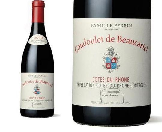 Côtes du Rhône Coudoulet de Beaucastel 2016 Famille Perrin. Pic credit: Famille Perrin