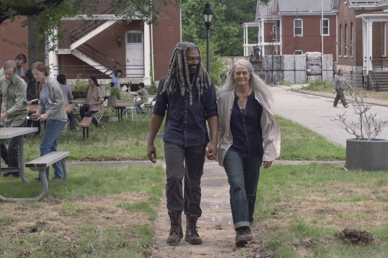 Khary Payton as Ezekiel, Melissa McBride as Carol Peletier - The Walking Dead _ Season 9, Episode 6 - Photo Credit: Gene Page/AMC