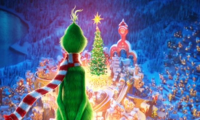 The Grinch looks down on Whoville