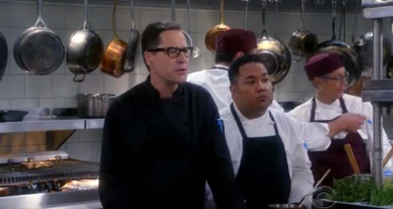 French Stewart as chef Rudy on an episode of Mom