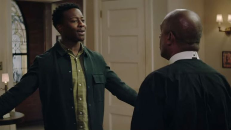 Brandon Michael Hall and Joe Morton as Miles and Arthur on God Friended Me