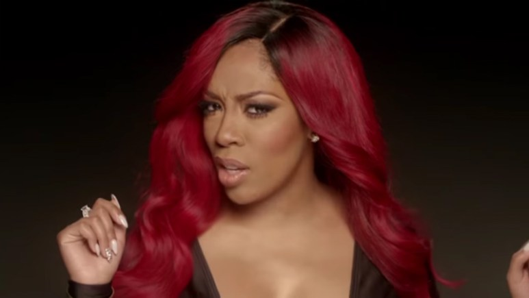 K. Michelle in the VSOP music video