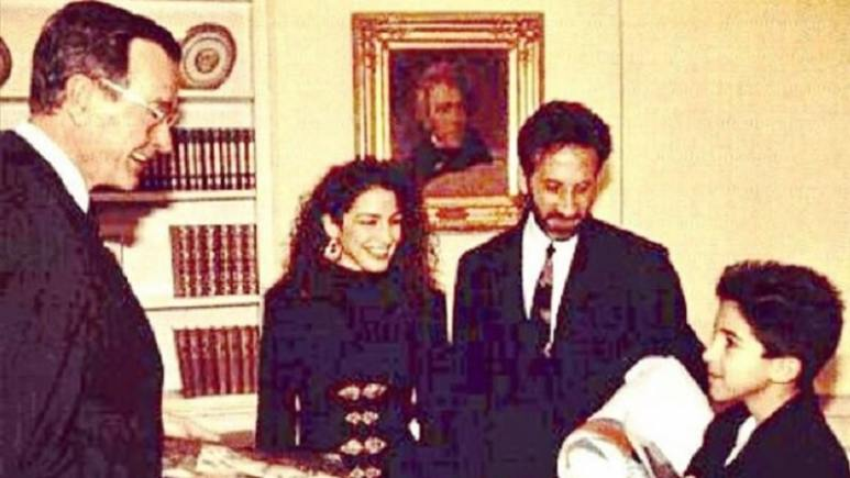 Gloria Estefan and Family visiting the White House