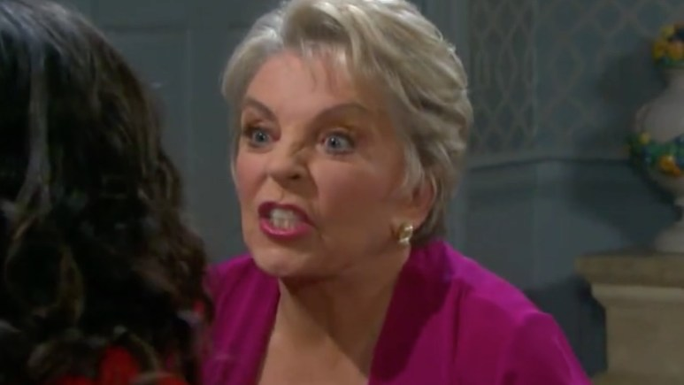 Julie angry on Days of our Lives