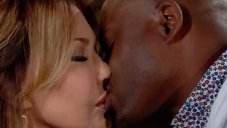 Reece kisses Taylor on The Bold and the Beautiful