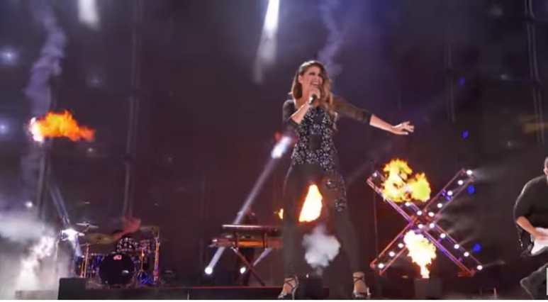 Christina Ramos performing on AGT: The Champions