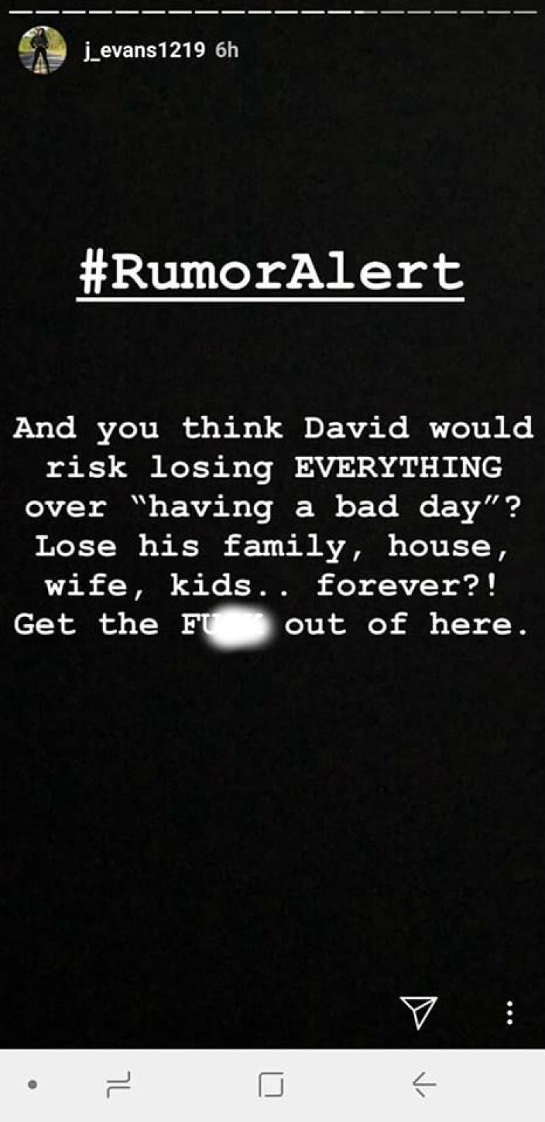 Jenelle Evans responds to The Ashley's report. Pic credit: J_Evans1219/Instagram