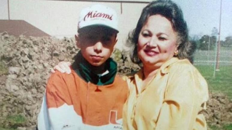 Michael Blanco from Cartel Crew posing with his mother, Griselda Blanco, the 'Cocaine Grandmother'