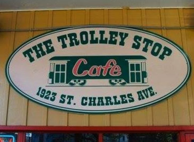 The Trolley Shop cafe sign