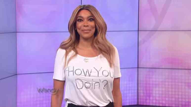 Wendy Williams hosting her show