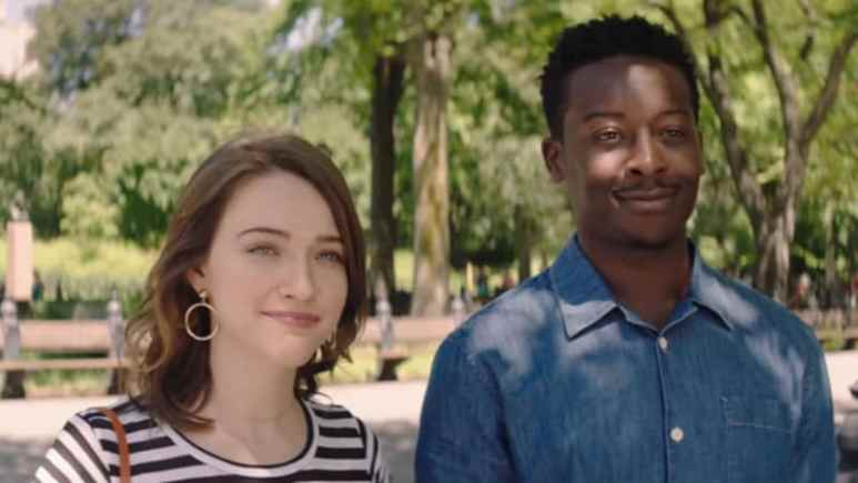 Violett Beane and Brandon Michael Hall as Cara and Miles on God Friended Me