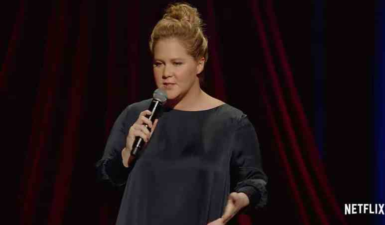 Amy Schumer will not go gently into that third trimester. Pic credit: Netflix