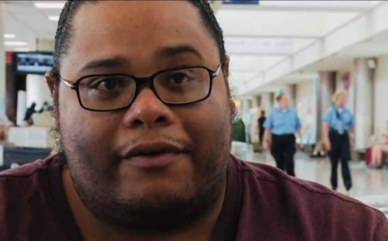 Brandon at the airport on My 600-lb Life