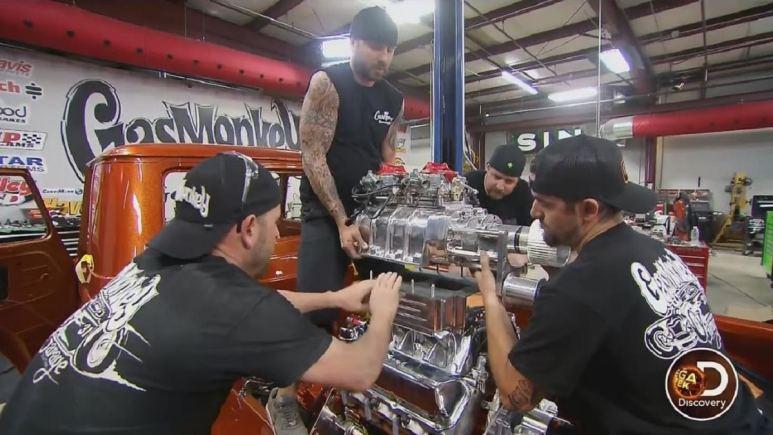 The Gas Monkey Garage team at work