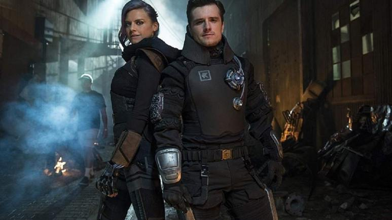 Josh Hutcherson and Eliza Coupe in Future Man