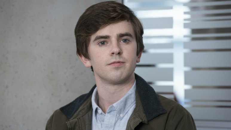 Freddy Highmore as Shaun Murphy in The Good Doctor