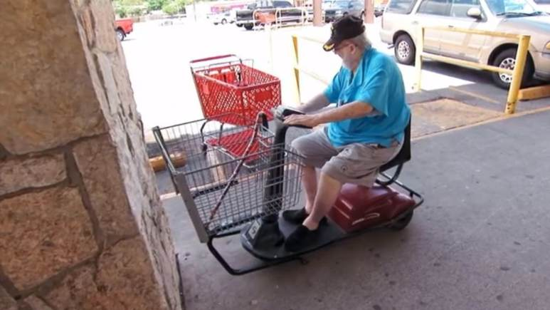This is wrong, Aaron;s dad is 76 and is barely able to get around himself. Pic credit: TLC
