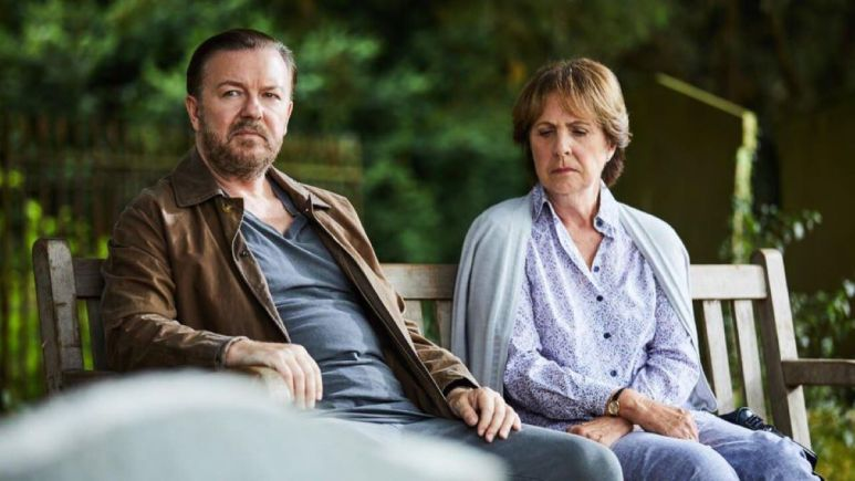 Tony and Anne work through their grief and strike up a nice friendship. Pic credit: Netflix