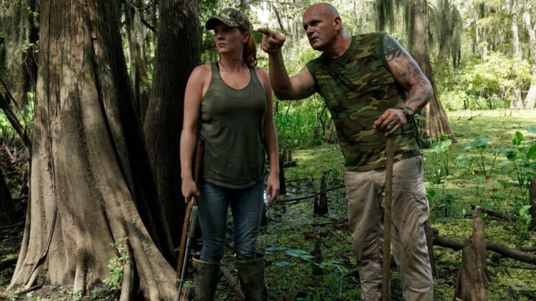"Ashley Jones ""Che"" and Ronnie Adams of Swamp People. Pic credit: Alfonso Bresciani/History Channel)"