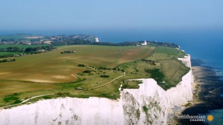 The cliffs of Dover are one of the most impressive natural wonders of Britain. Pic credit; Smithsonian Channel