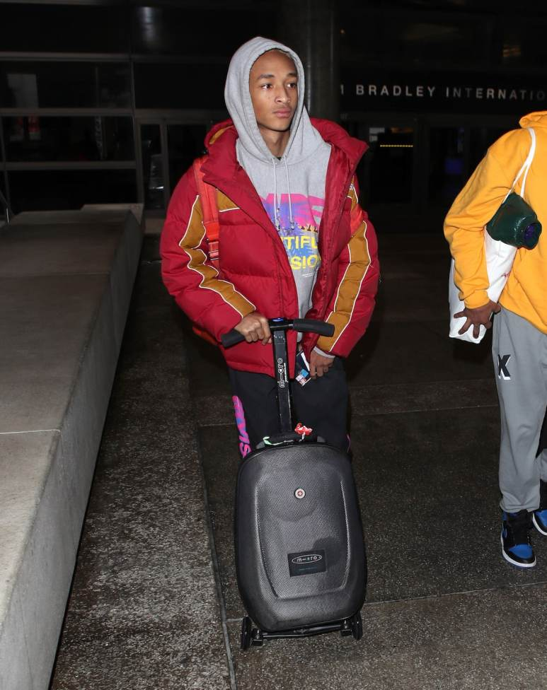 Jaden Smith in LAX arrivals hall