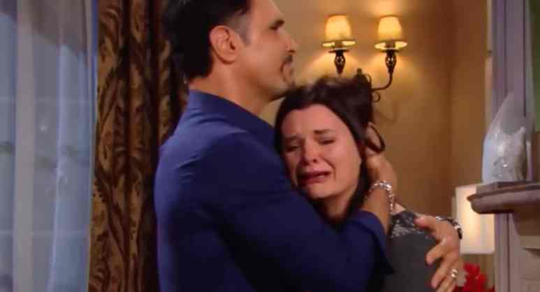 Bill and Katie embrace on The Bold and the Beautiful