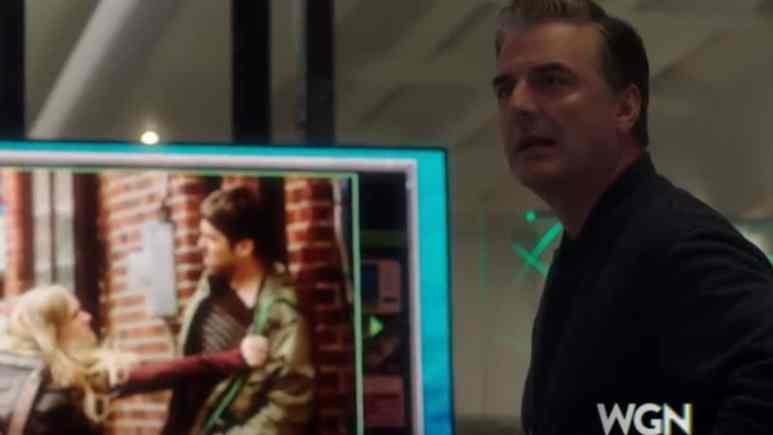 Chris Noth is Frank Novak, who counsels Kit in her rage moment. Pic credit: WGN America