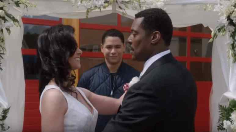Melissa Ponzio and Eamonn Walker on Chicago Fire cast