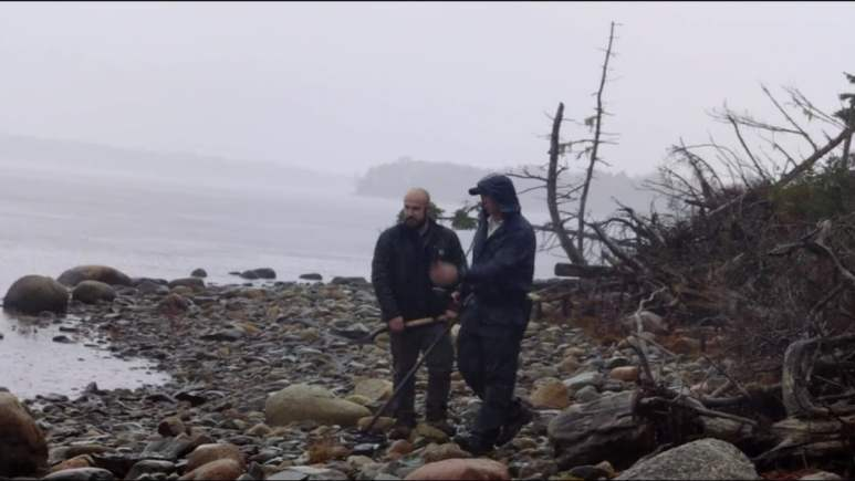 Jack Begley and Gary Drayton search for more artifacts