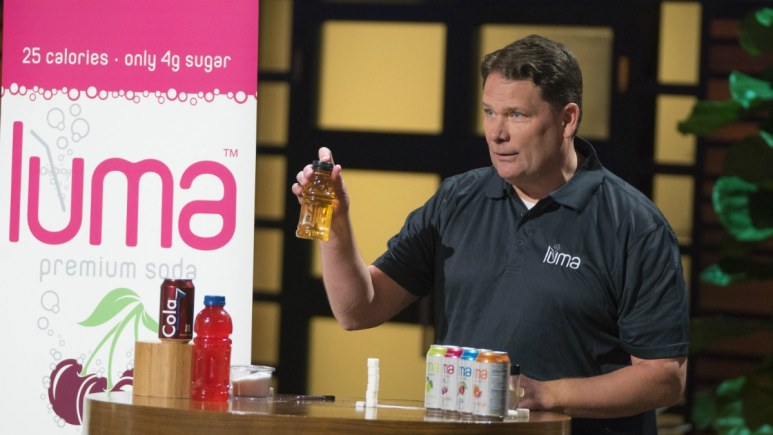 Jim Otteson pitches Luma soda on Shark Tank