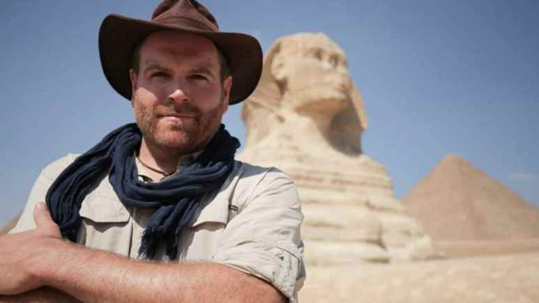Josh Gates ahead of the live event which takes us on a real Indiana Jones-like adventure in Egypt. Pic credit: Discovery