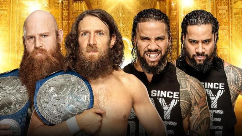 SmackDown Tag Team Champions Daniel Bryan & Rowan vs. The Usos