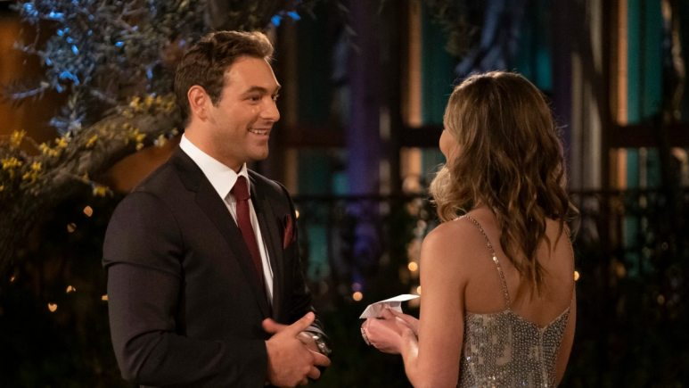 Chasen with Hannah B on The Bachelorette