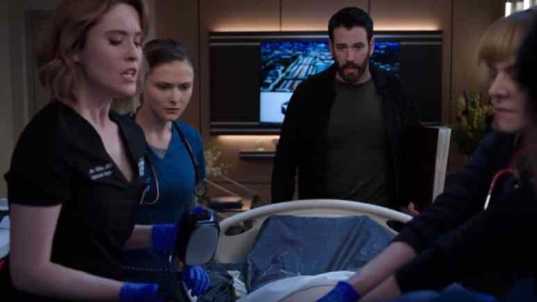 Colin Donnell, Norma Kuhling during Season 4 of Chicago Med